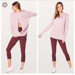 Lululemon bring it backbend sweater 10 pink